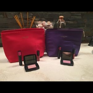 BN Lancôme beauty products with 2 cosmetic cases